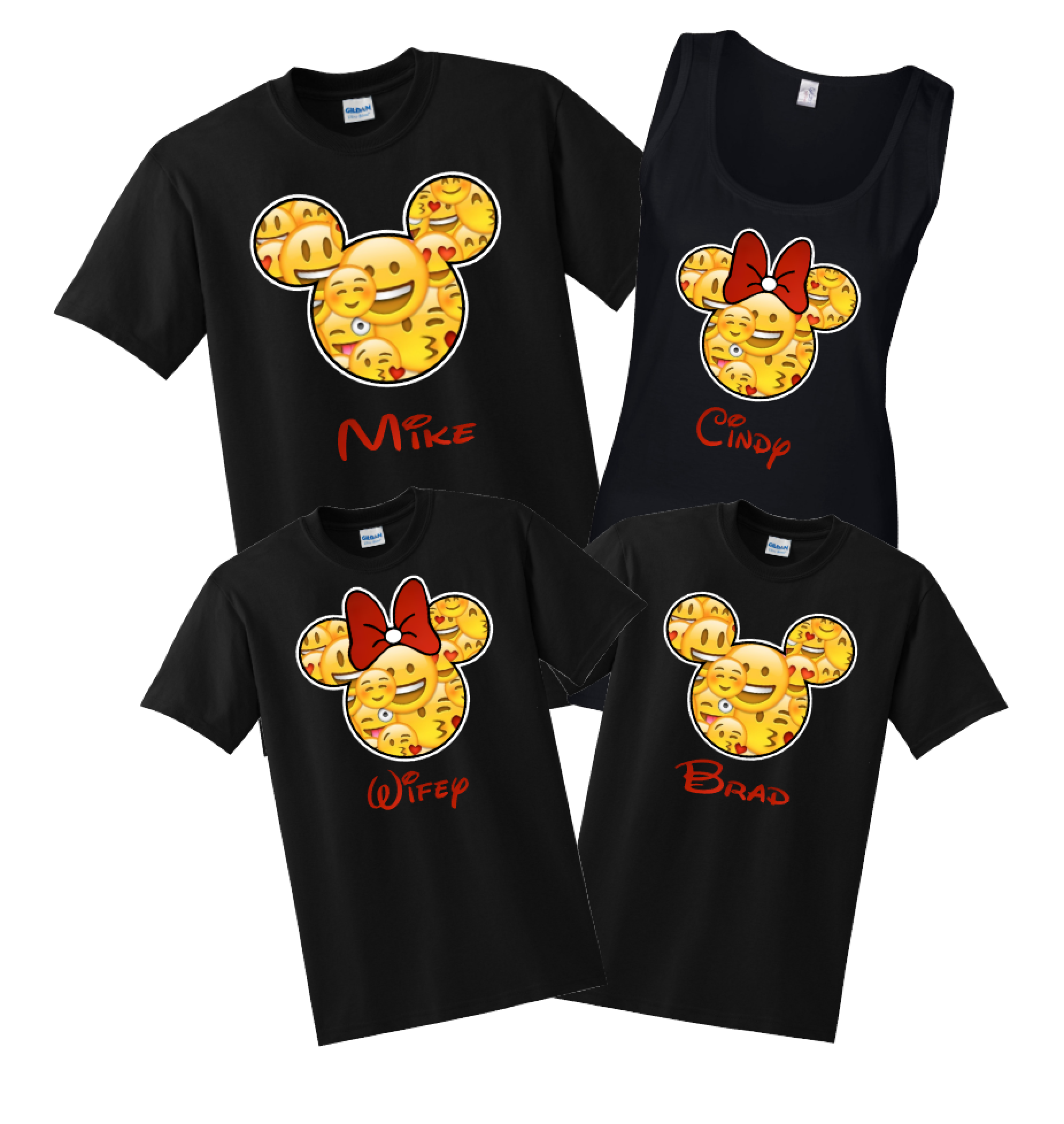 Disney Family Emoji FACE Custom T Shirts