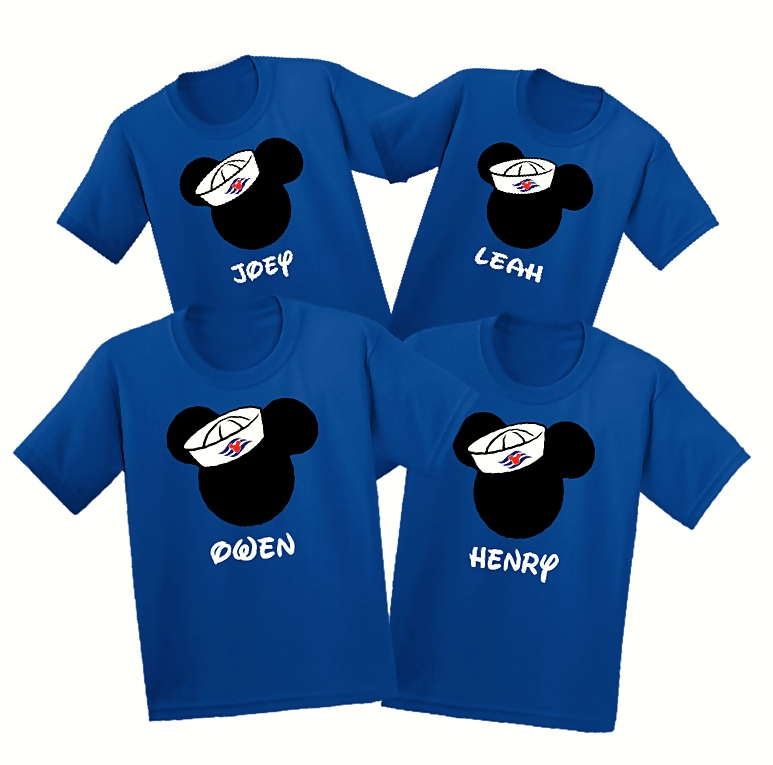 2232a66a Disney Cruise Sailor Hat Family Vacation T Shirts   The Official Site of  Logan To Layla