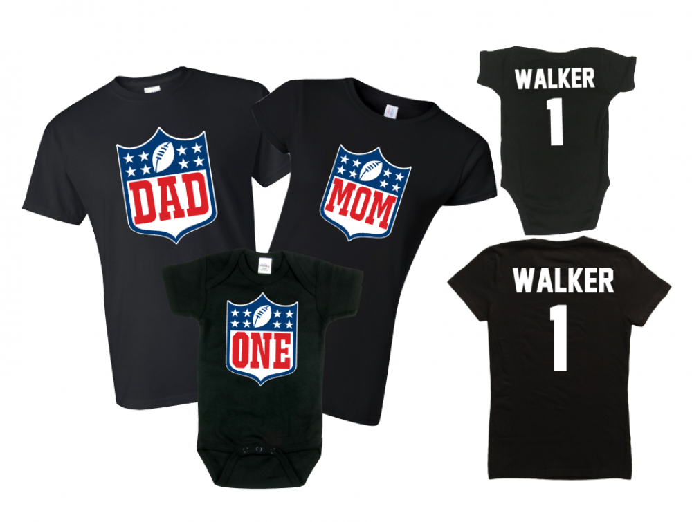 Football birthday the official site of logan to layla for Custom t shirts for teams