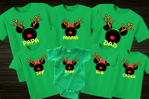 Disney Christmas Reindeer Family Vacation T-Shirts