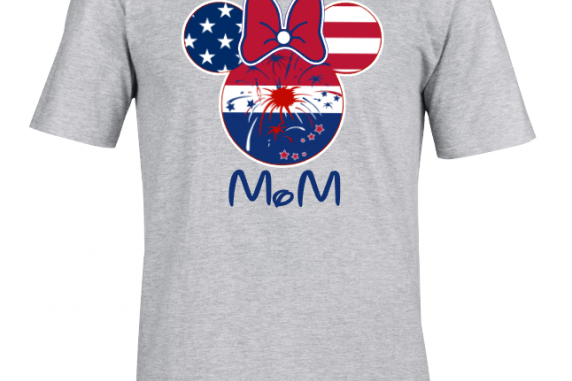 Disney American Flag Family Mickey Mouse and Minnie Mouse T-Shirt