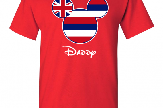 Hawaii American Flag Disney Family T-shirt