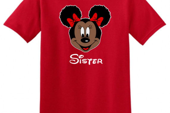 Disney Mickey Mouse and Minnie Mouse Natural Afro T-Shirt