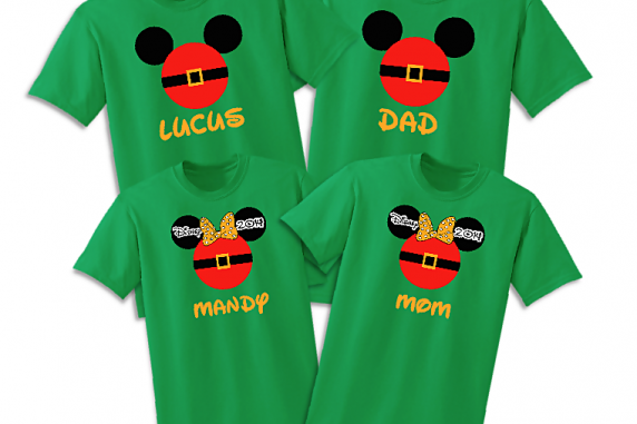 Disney Family Mr & Mrs Santa Vacation T-Shirts