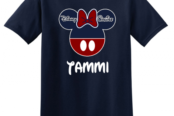 Disney Family Cruise Vacation Multi Color T-Shirts