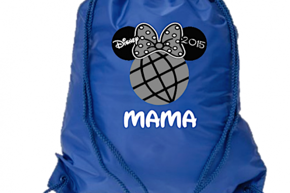 Epcot Mickey and Minnie Drawstring Bags