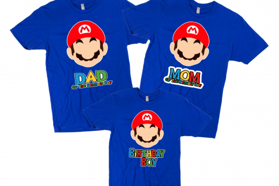 Super Mario Birthday T-shirts