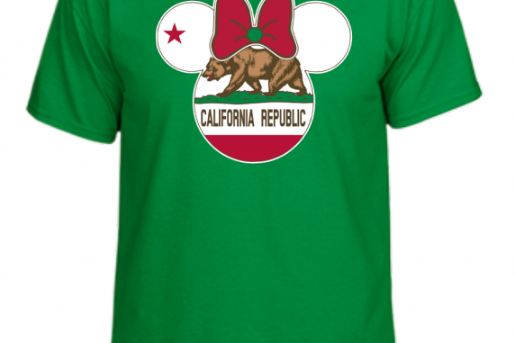 Disney Mickey and Minnie Mouse California State Flag Family T-Shirt