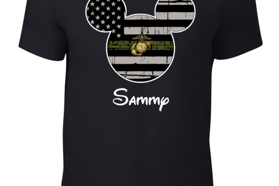 Disney US Marines Military Family Mickey Mouse Family Matching Shirts