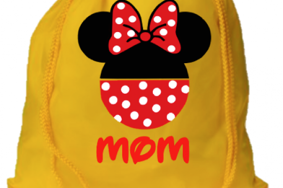 Mickey and Minnie Pants Drawstring Bags