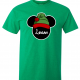 Disney Christmas Family Mickey and Minnie Santa Custom T-Shirts - Kelly Green