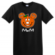 Disney Family Halloween Pumpkin Head Custom T-Shirts - Black