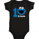 Personalized Cookie Monster onesie