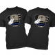 Disney Police and US Marines Military Mickey Mouse Family Matching Shirts