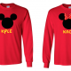 Disney Mickey and Minnie Mouse Family Vacation Long Sleeve Shirt