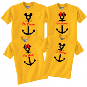 Disney Family Cruise Anchor Vacation T-Shirts