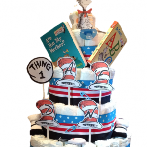 Dr. Seuss 4 Tier Diaper Cake (Choose your Theme)