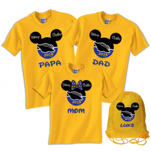 Disney Family Cruise Ship Vacation T-Shirts - Blue