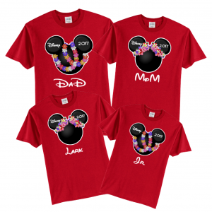 Disney Hawaii Family Shirt / Pants  Mickey and Minnie Vacation T-Shirt Bottoms