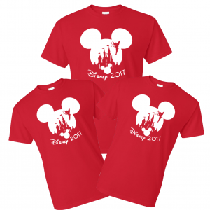 Disney Mickey and Minnie Castle Ears Family T-Shirts