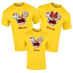 Disney Family Mickey Color Comics Custom T-Shirts