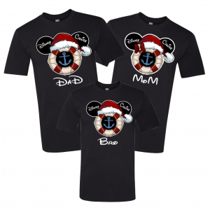 Disney Mickey and Minnie Disney Cruise Santa Hat Family T-Shirts