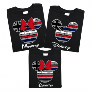 Disney Hawaii Flag Family Mickey Mouse and Minnie Mouse T-Shirt