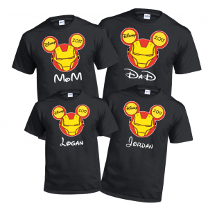 Iron Man Super Heros custom disney T-Shirt