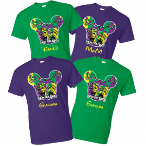 Disney Family Mickey Mardi Gras Family Vacation Family T-shirts