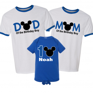 Mickey Mouse Matching Family Birthday Shirts