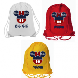 Cruise Mickey and Minnie Drawstring Bags
