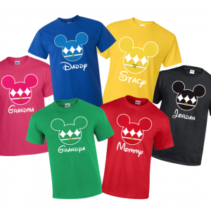 Disney Mickey Power Ranger Family T-Shirts super Hero