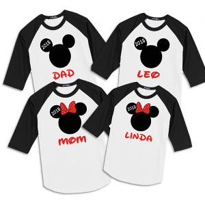 Mickey & Minnie Family Vacation Raglan T-Shirts