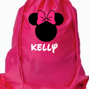 Minnie Pink Drawstring Bags