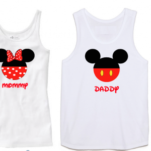 Disney Family Minnie and Mickey Mouse Family Tank Tops