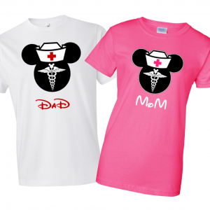Disney Nurse Family Minnie Mouse Flowy Tops and Tank Top