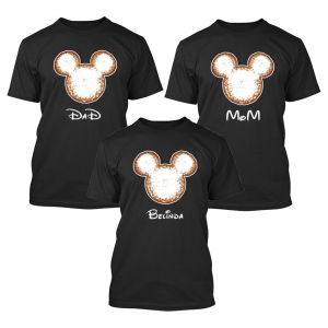 Disney Beignet Mickey Mouse Family Matching Shirts