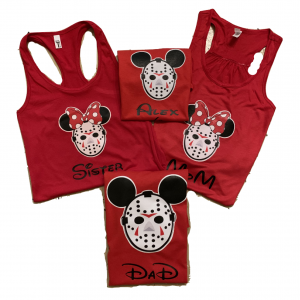 Disney Family Mickey Jason Vorhees Custom T-Shirts