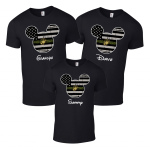 Disney US Marines Military Family Mickey Mouse Matching Shirts