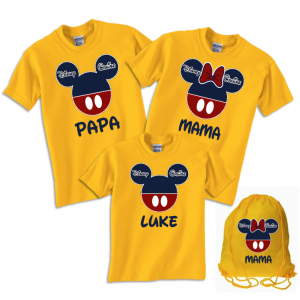 Disney Family Cruise Vacation T-Shirts - Navy & Red