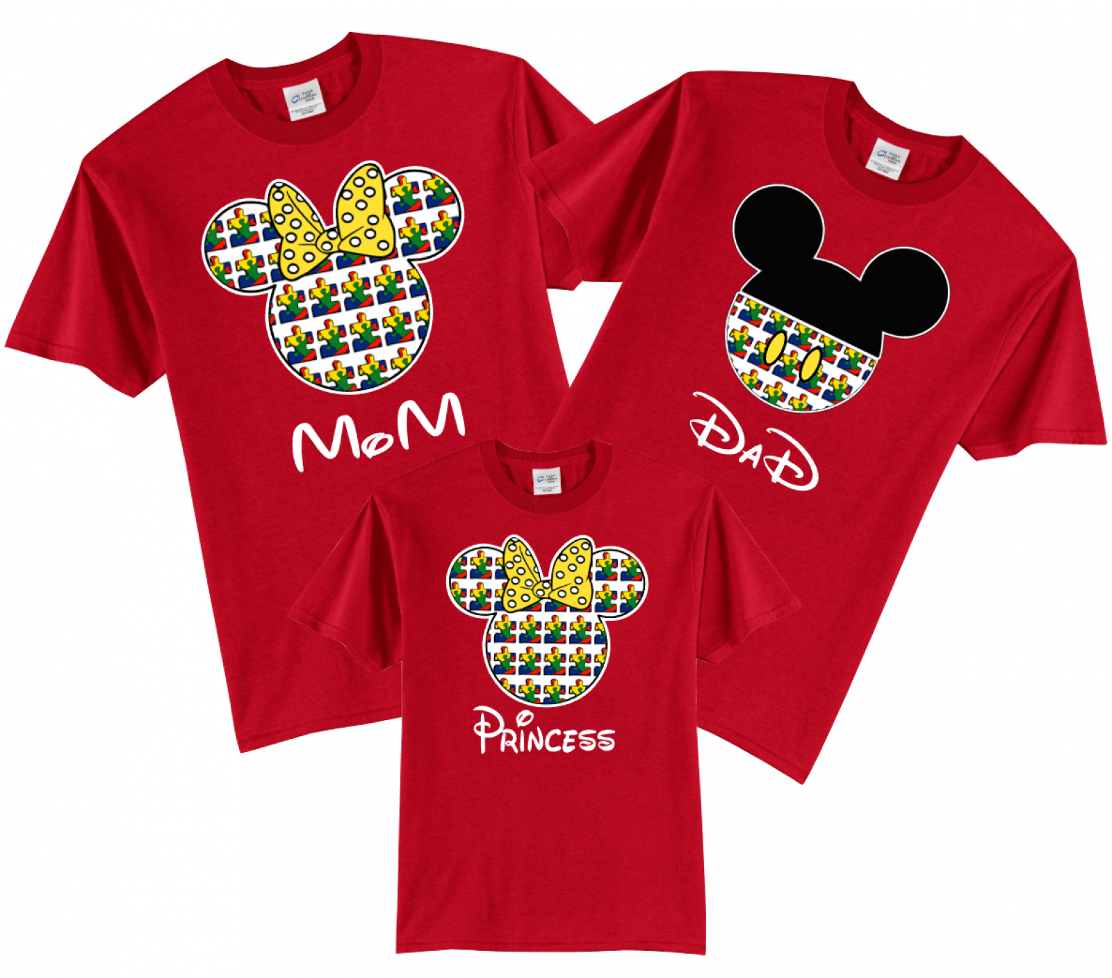 Disney Family Autism Mickey and Minnie Vacation T-Shirts-Puzzle ...