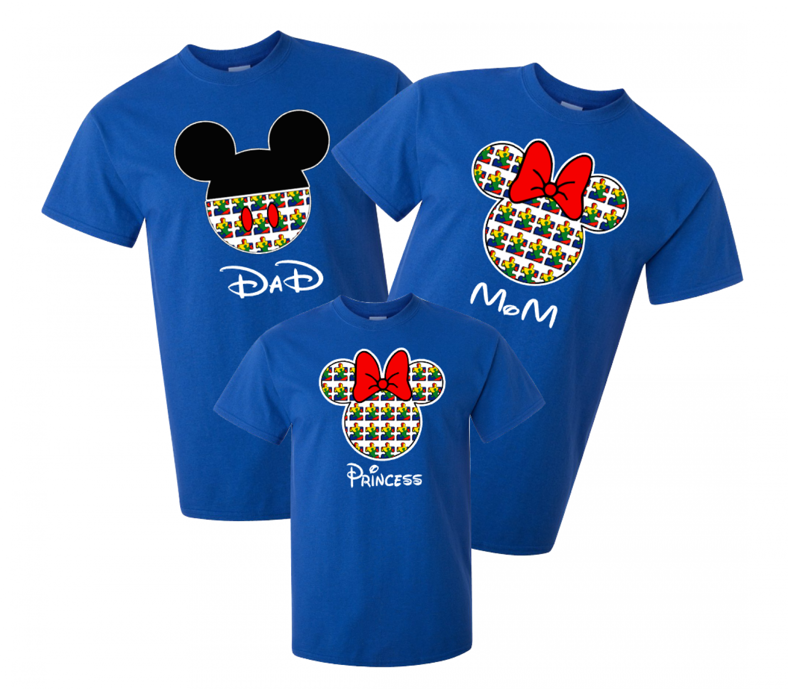 Disney Family Autism Mickey And Minnie Vacation T Shirts Puzzle