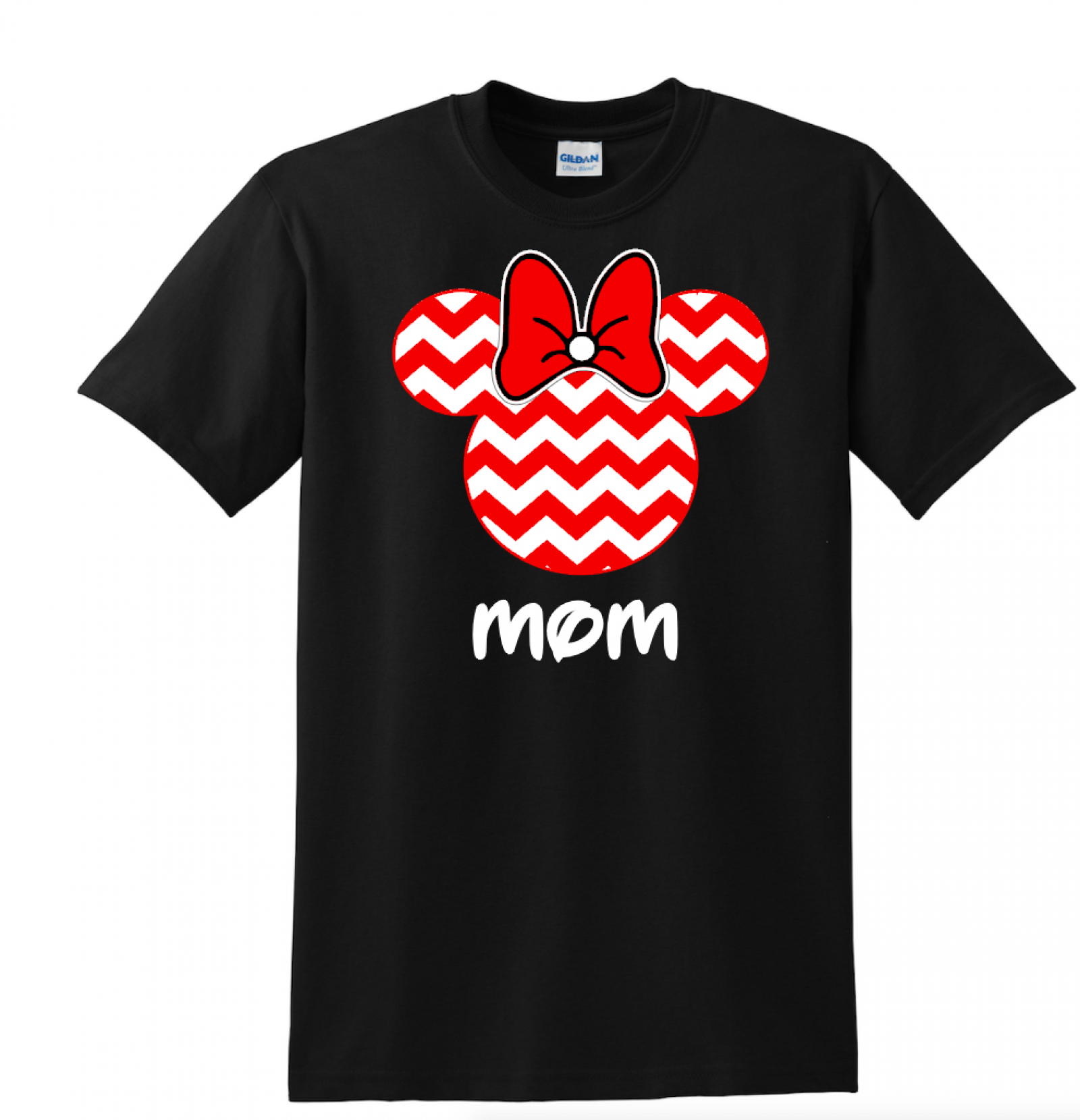 Design tshirt family -  Red Chevron Mickey And Minnie Family Vacation T Shirts