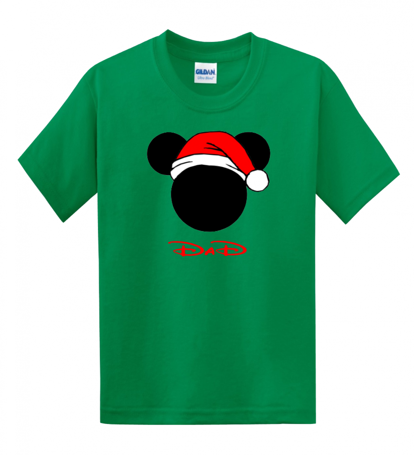 Disney Family Santa Hat Head Custom T-Shirts
