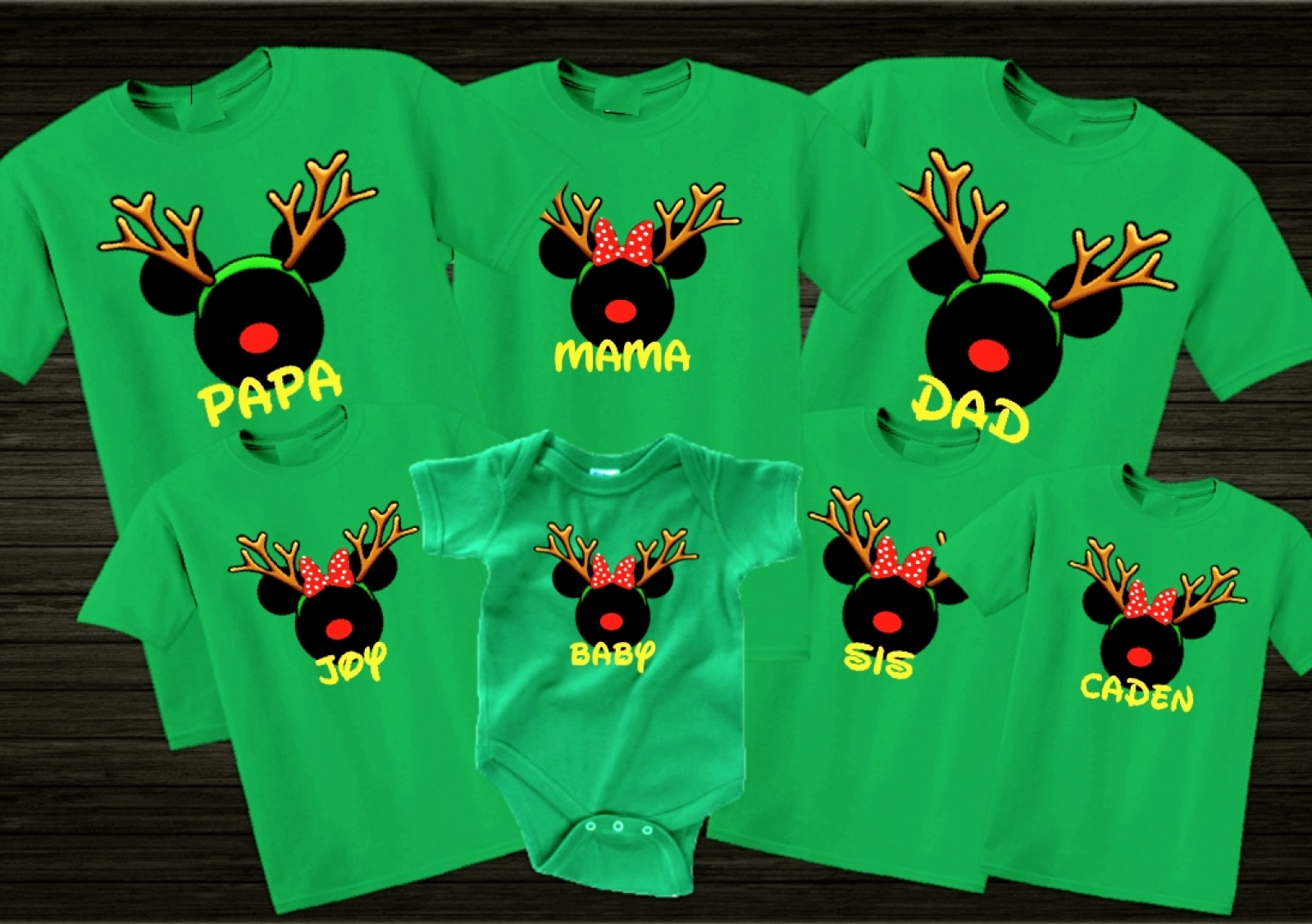 disney christmas reindeer family vacation t shirts