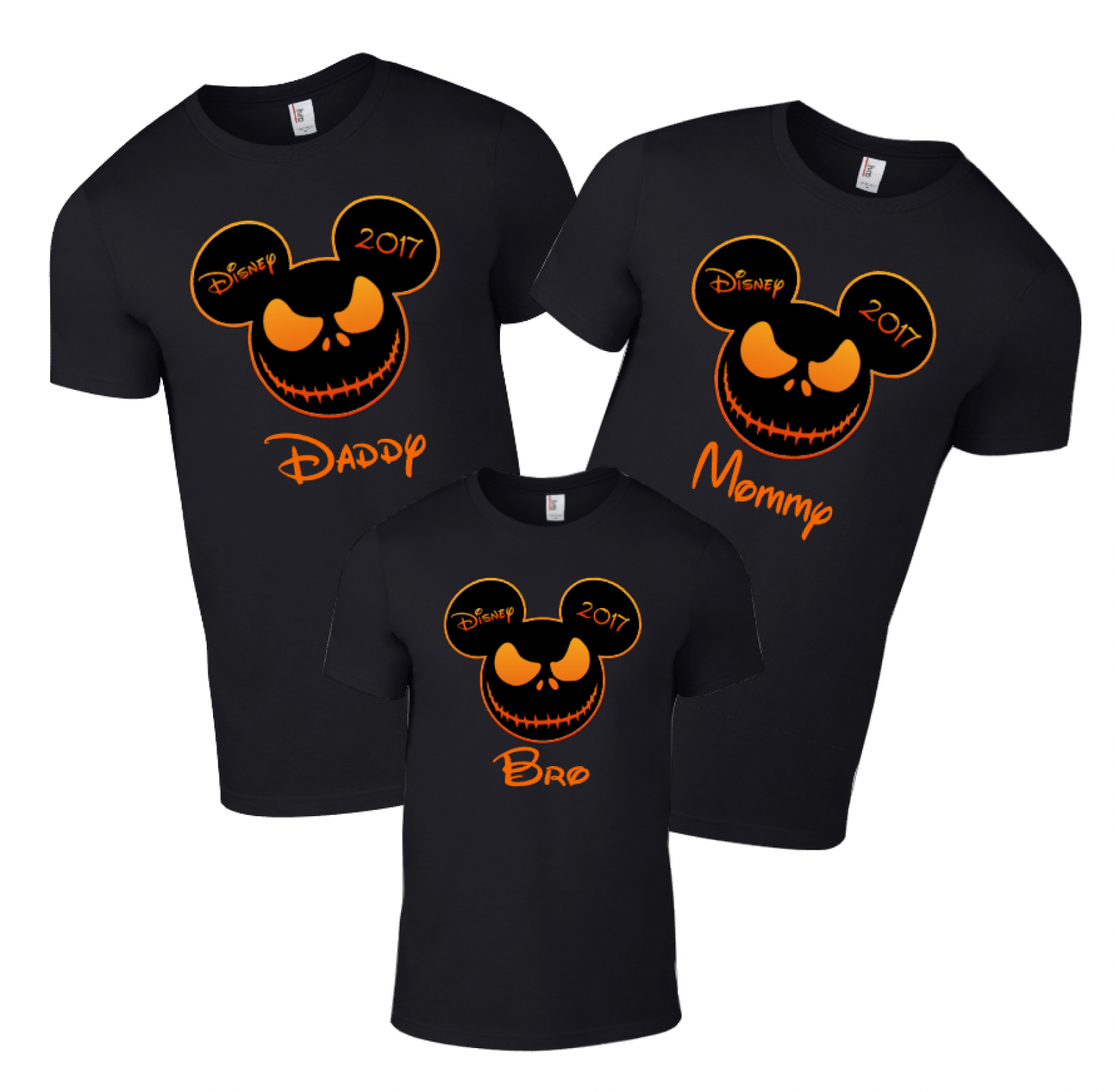 40eba21709ed Disney Family Halloween Scary Face Custom T-Shirts | The Official ...