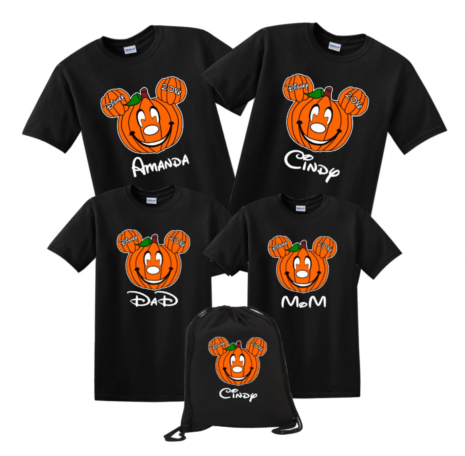 2951ce8d6f2ce Disney Family Emoji FACE Custom T-Shirts - Black | The Official Site of  Logan To Layla