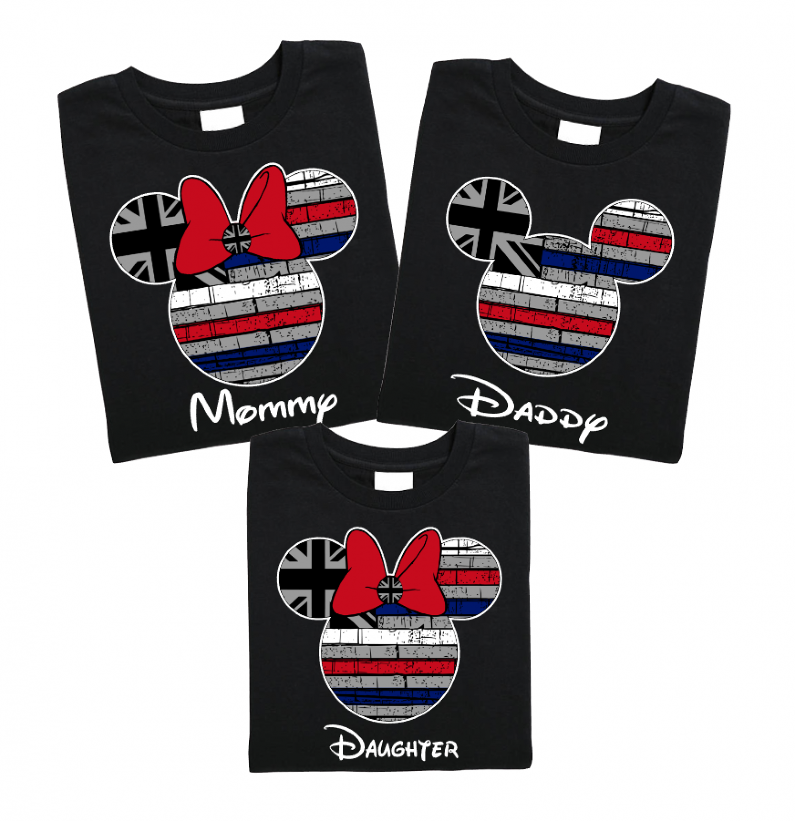 9c818a5ec42b60 Disney Hawaii Flag Family Mickey Mouse and Minnie Mouse T-Shirt | The  Official Site of Logan To Layla