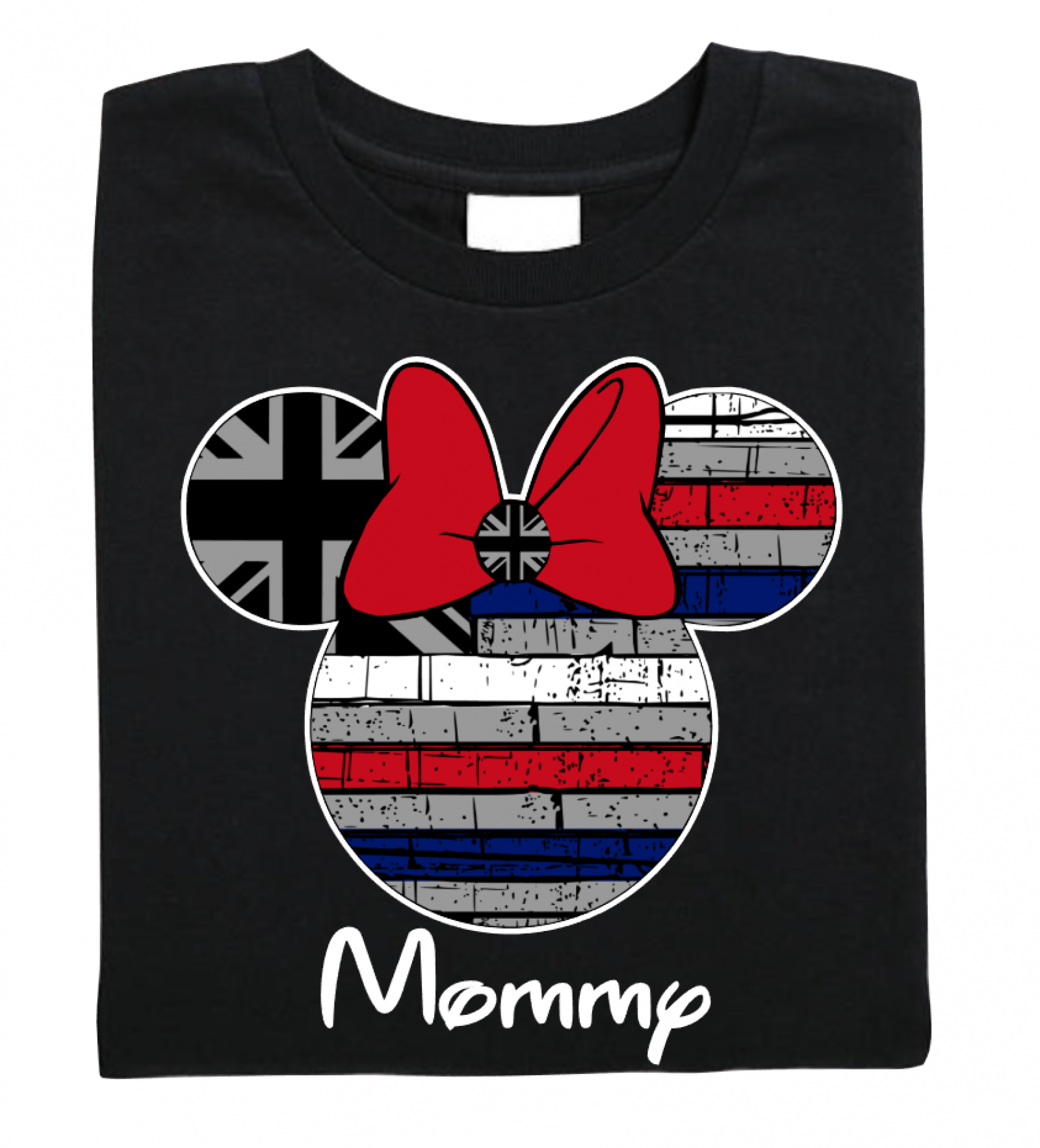 05f17bd1b6fb09 ... Disney Hawaii Flag Family Mickey Mouse and Minnie Mouse T-Shirt