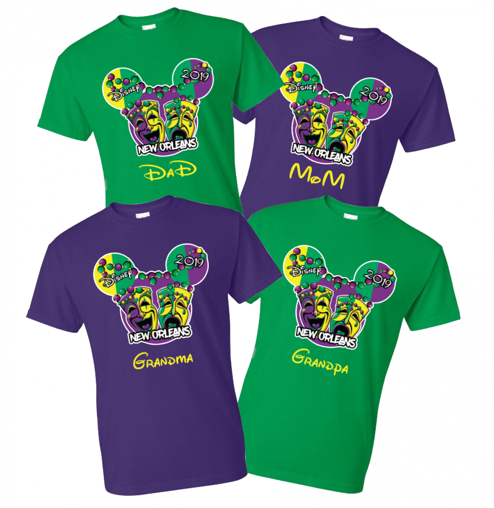 578455e053db32 Disney Mardi Gras Family Vacation T Shirts | The Official Site of ...